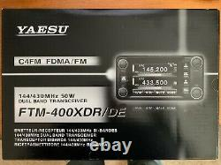 Yaesu FTM-400XDR/DE C4FM FDMA / FM 144/430 MHz 50 W Dual Band Mobile Transceiver