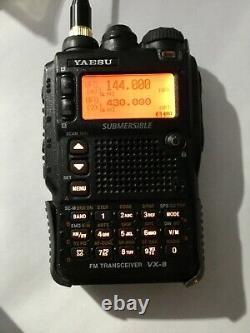 Yaesu VX-8R 50/144/430/220 MHz Transceiver and Accessories
