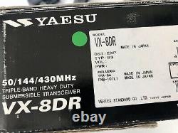 Yaesu vx-8dr Radio VX 8 DR 50/144/430 MHZ Triple Band Cover 222Mhz handheld