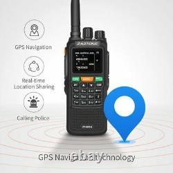 Zastone 889G GPS Walkie Talkie 10W 999CH 3000mAh UHF 400-520 / VHF136-174MHz